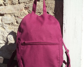 Canvas small backpack