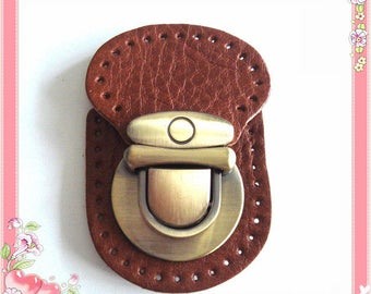 Leather quick-release buckle Brown 1 piece