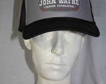 Vintage John Wayne Mesh Snapback Trucker Hat Since 1985 Cancer Foundation