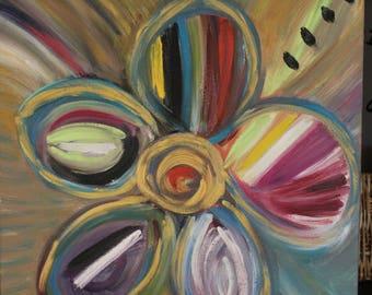 Painting Figurative flower fantasy
