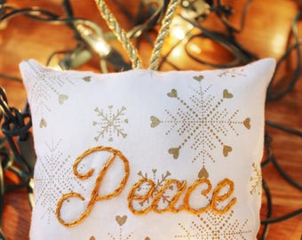 Christmas Decor - Christmas Ornaments - Inspirational Gifts - Christmas Gifts - Stocking Stuffers - Small Gifts - Gifts Under 20 - Peace