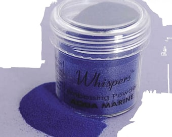 Whispers Embossing Powder - Blue - 1 Oz