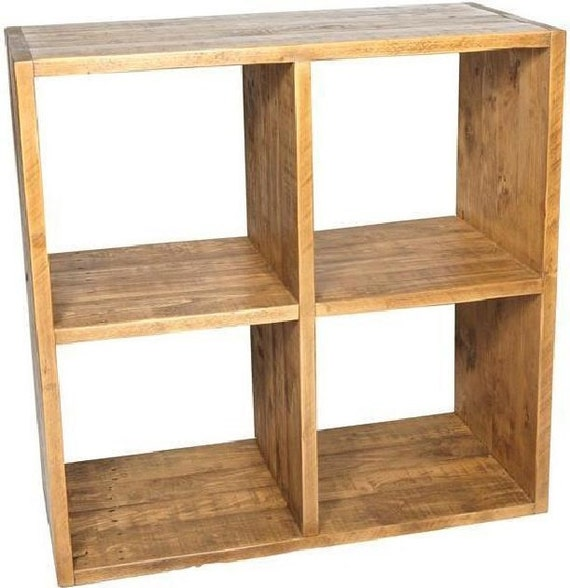 rustic plank furniture new real solid wood cube shelving unit. Black Bedroom Furniture Sets. Home Design Ideas