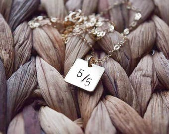 buffy inspired necklace | five by five necklace | 14k gold filled | square necklace | layering necklace | buffy necklace | tv show | fandom