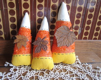 Primitive Candy Corn Ornies/Halloween Candy Corn/Thanksgiving/Fall Decoration.