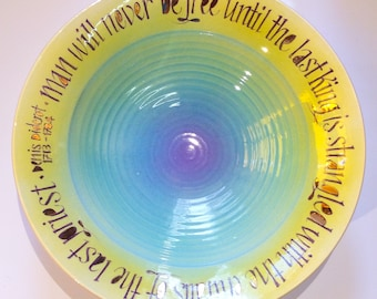Denis Diderot quote bowl.