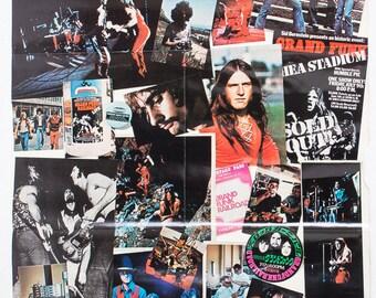 Vintage Grand Funk Railroad Poster - 1972 | Original Rock N' Roll Posters 1970s | Classic Rock - Prop Display Decor