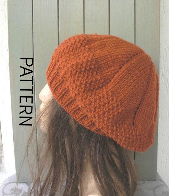 Sombrero sombrero del patrón Digital sombrero que hace punto