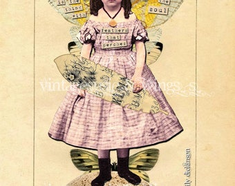 Vintage HOPE 5x7 Art Card Print with Envelope