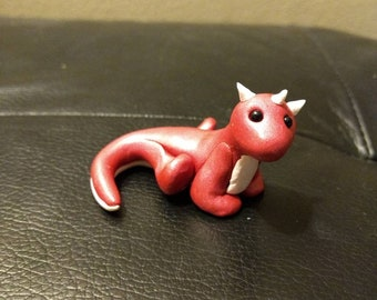 Pink sparkling dragon, cute small