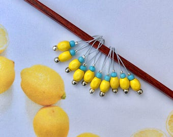 stitch markers knitting markers snag free markers LEMON PIPS lace markers for sock knitting