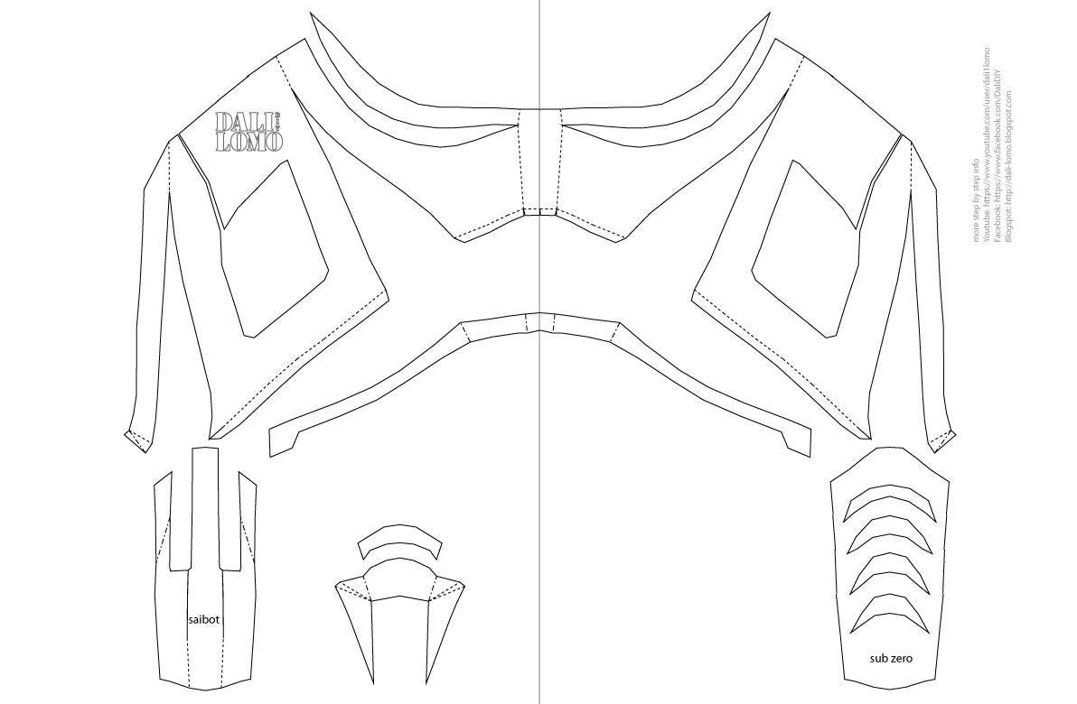 Mortal Kombat Minusgraden / Saibot Maske PDF-Vorlage