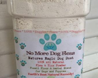 3lb Diatomaceous Earth Herbal Blend No More Dog Flea Powder Treatment and Control