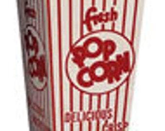 25% off - 72 Retro Popcorn Boxes - Movie Theater style