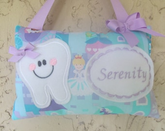 Tooth Fairy Pillow Princess Castle Personalized