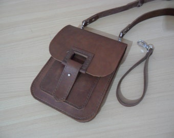 SALE Brown Small bag, Handkerchief, leather clutch purse, small leather purse, clutch purse, clutch bag, brown leather bag, simple bag