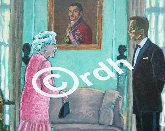 James Bond Queen Elizabeth London Olympics artwork card and envelope