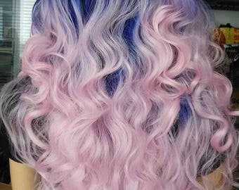 Purple & Pink Ombre Lace Front Wig