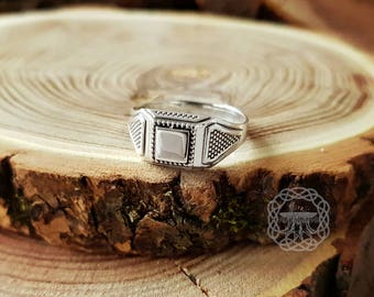 Sterling Silver Ring Signet Ring