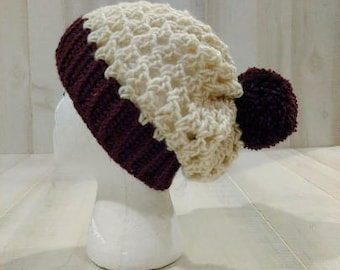 Child /Youth Slouchy Crocheted Hat