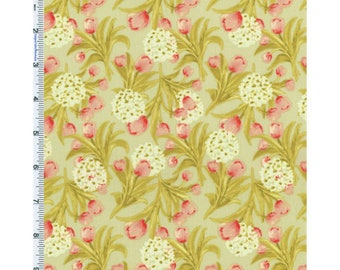 Sage Green Nel Whatmore Eden Print Cotton, Fabric By The Yard