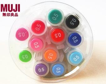 12pcs - Muji 0.5mm Gel Ink Pens Set