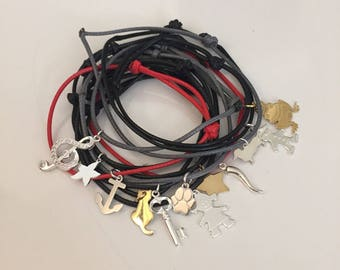 Rope bracelets with 925 Silver Pendant