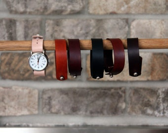 Leather watch strap for Timex Weekender
