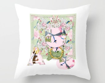 Indoor pillow cover with pillow insert, Indoor Decorative Throw Pillow Cover, Happy Easter