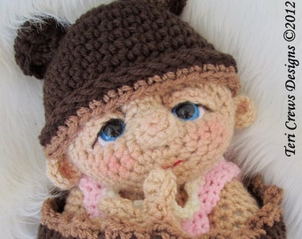 Baby Doll Crochet Pattern by Teri Crews PDF format Instant Download