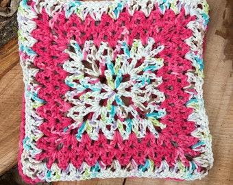 Set of 2 Pink Variegated Dishcloths