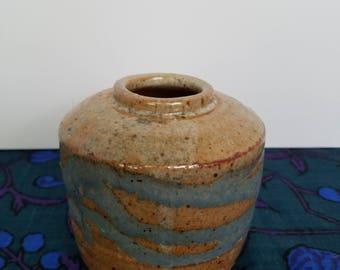 Southwestern Sand Glazed Stoneware Vessel
