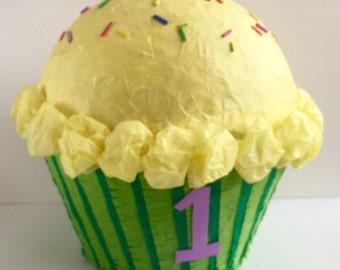 Cupcake Pinata 1st Birthday Party Game Custom Pinata Cupcake Birthday Party