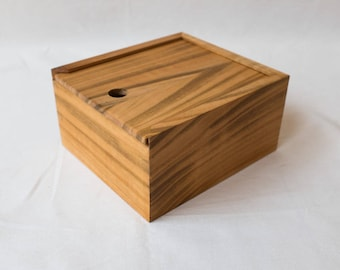 Custom box- Cherry wood- Wedding photos- Jewelry wood box- Wedding guest book- Card post box- Photo box- Print box- Natural color- Gift idea