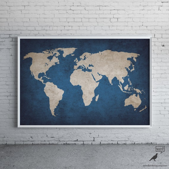 Navy blue rustic world map print old world map indigo cobalt navy blue rustic world map print old world map indigo cobalt blue large world map poster navy world map map decor map art gumiabroncs Image collections