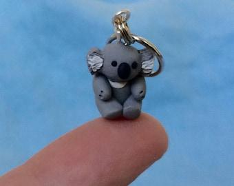Cute Koala, Miniature Animals, Australian Animals, Clay Stitch Markers, Knitting Notions, Crochet Notions, Knitting Help, set of 4