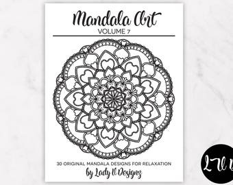 Printable Mandala Coloring Book VOL 7