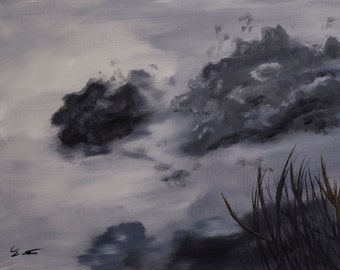 """Original Oil Painting """"Prelude To The Storm"""".  One of  a kind."""