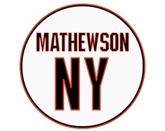 Christy Mathewson Retired Number Sticker | New York Giants