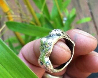 Sterling silver finger ring - Der MeerJungFrau-