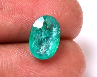 Emerald 3.10 Cts Emerald  Oval Shape Gemstone 11.28X7.75 MM Size Natural Emerald Loose  Oval  shape Gemstone 08