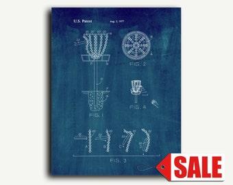 Patent Art - Flying Disc Entrapment Device Patent Wall Art Print
