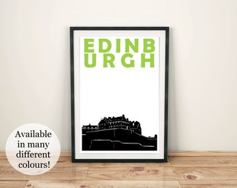 Edinburgh Print // Scotland Art // Edinburgh Art // Edinburgh Poster // Scottish Art // Scottish Poster // Scotland Print // Scottish Gift