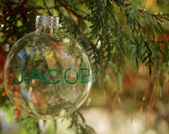 Name Ornament / Christmas Ornament / Personalized Christmas Ball