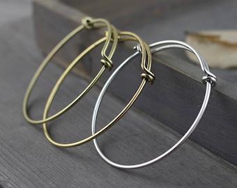 1pcs Expandable bangles,Antique Silver bangles,Antique Bronze bangles,Antique Goldbracelet,60x57mm  bangles charm