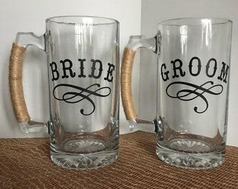 Bride Groom Beverage Mug set