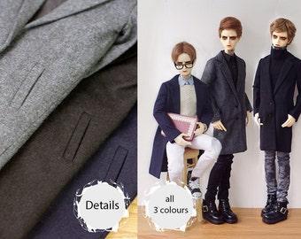 BJD SD17 70cm uncle formal coat suit jacket Black Navy blue and Grey