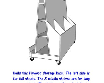 Plywood Storage Rack   - PDF File - Woodworking - blueprint -