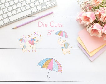 Planner Die Cuts / Elephant Die Cuts / Die Cuts / Planner Accessories / TN Die Cuts / Traveler's Notebook Accessories
