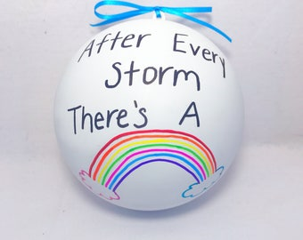 Rainbow Baby Gender Reveal 6.25 Inch Jumbo Gender Reveal Rainbow Baby Ball Gender Reveal Ideas Gender Reveal Ball
